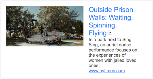 New York Times review: Outside Prison Walls: Waiting, Spinning, Flying